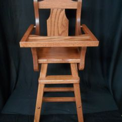 Baby Furniture Chair White Farmhouse Chairs Doll High Solid Oak Amish Handmade Handcrafted Kids Toy Harvest Stain | Ebay