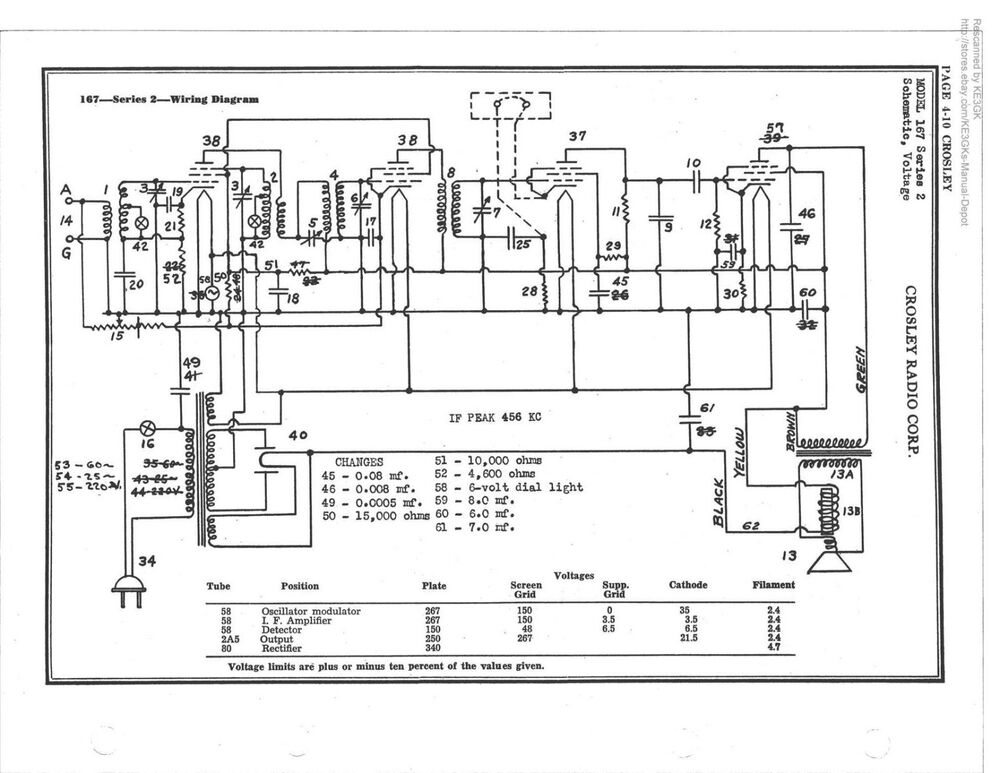 Riders Tube Radio Schematic * Single Schematic Printing