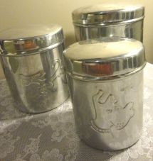 Ikea Stainless Steel 3 Storage Canister Set In India