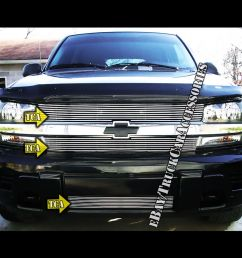 details about for 2002 2005 chevy trailblazer lt ls ss grille combo replacement insert 3pc 04 [ 1000 x 1000 Pixel ]