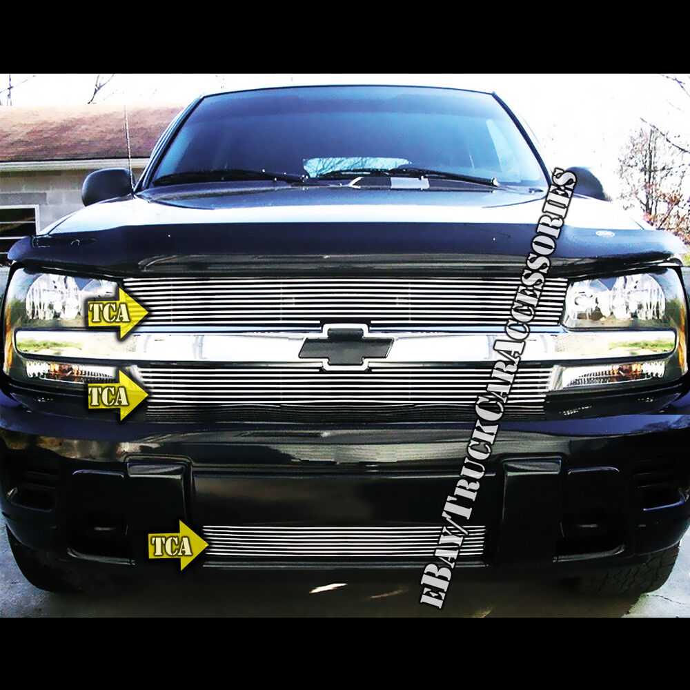 hight resolution of details about for 2002 2005 chevy trailblazer lt ls ss grille combo replacement insert 3pc 04