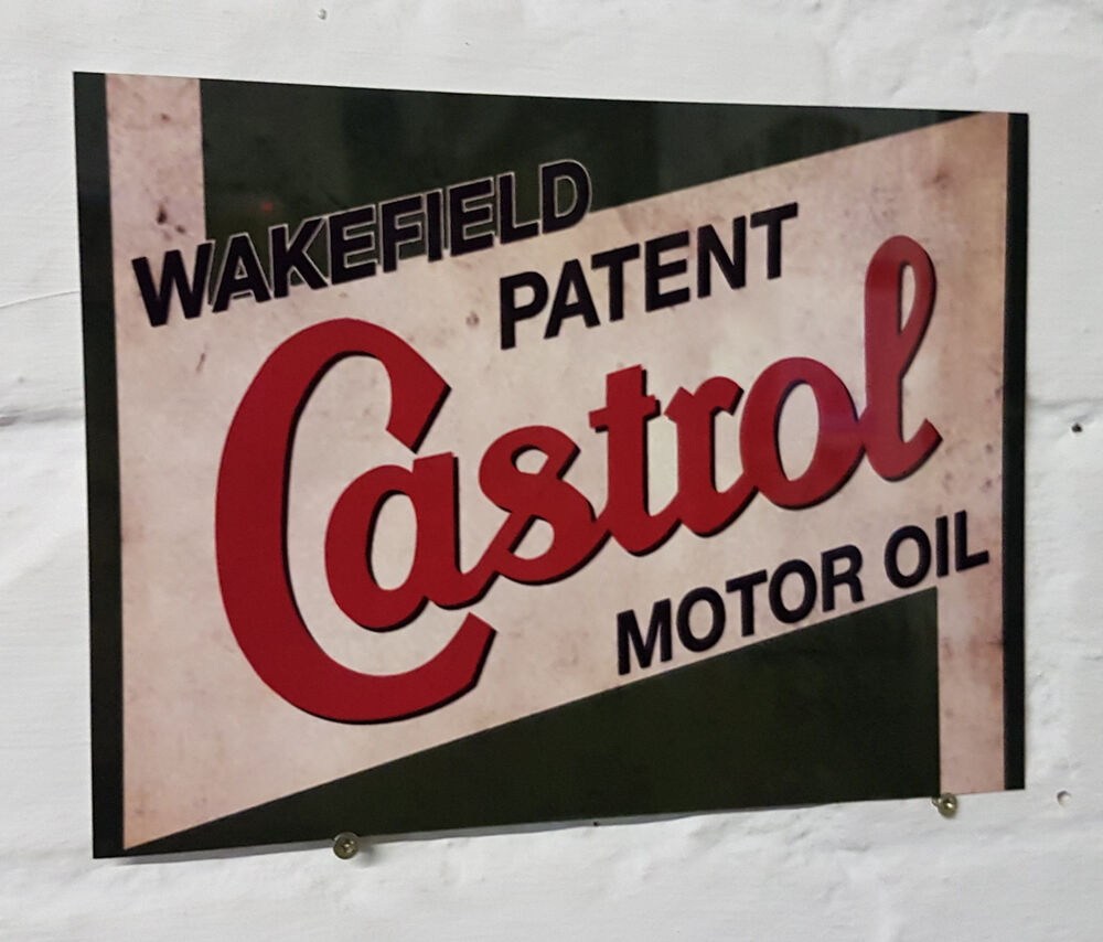 Castrol oil  Retro metal Aluminium Sign vintage  garage