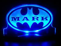 Personalized Batman Super Hero LED Lamp Night Light Custom