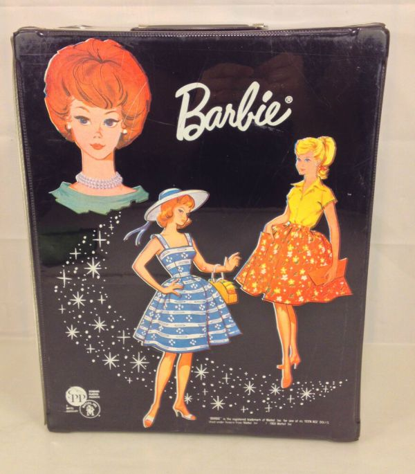 1964 Barbie Doll Carrying Case With And Clothes