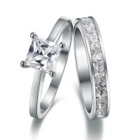 Platinum-Look 925 Sterling Silver Simulated Diamond ...