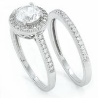 .925 sterling silver round cut simulated diamond ...
