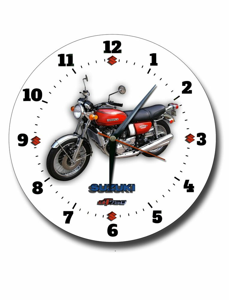 SUZUKI GT750 MOTORCYCLE LARGE 250MM DIAMETER ENAMEL FINISH
