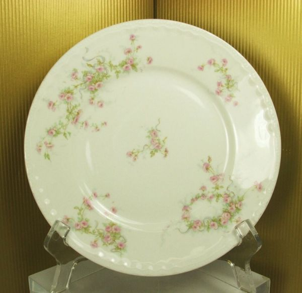Antique 10 Porcelain Plate Theodore Haviland Limoges