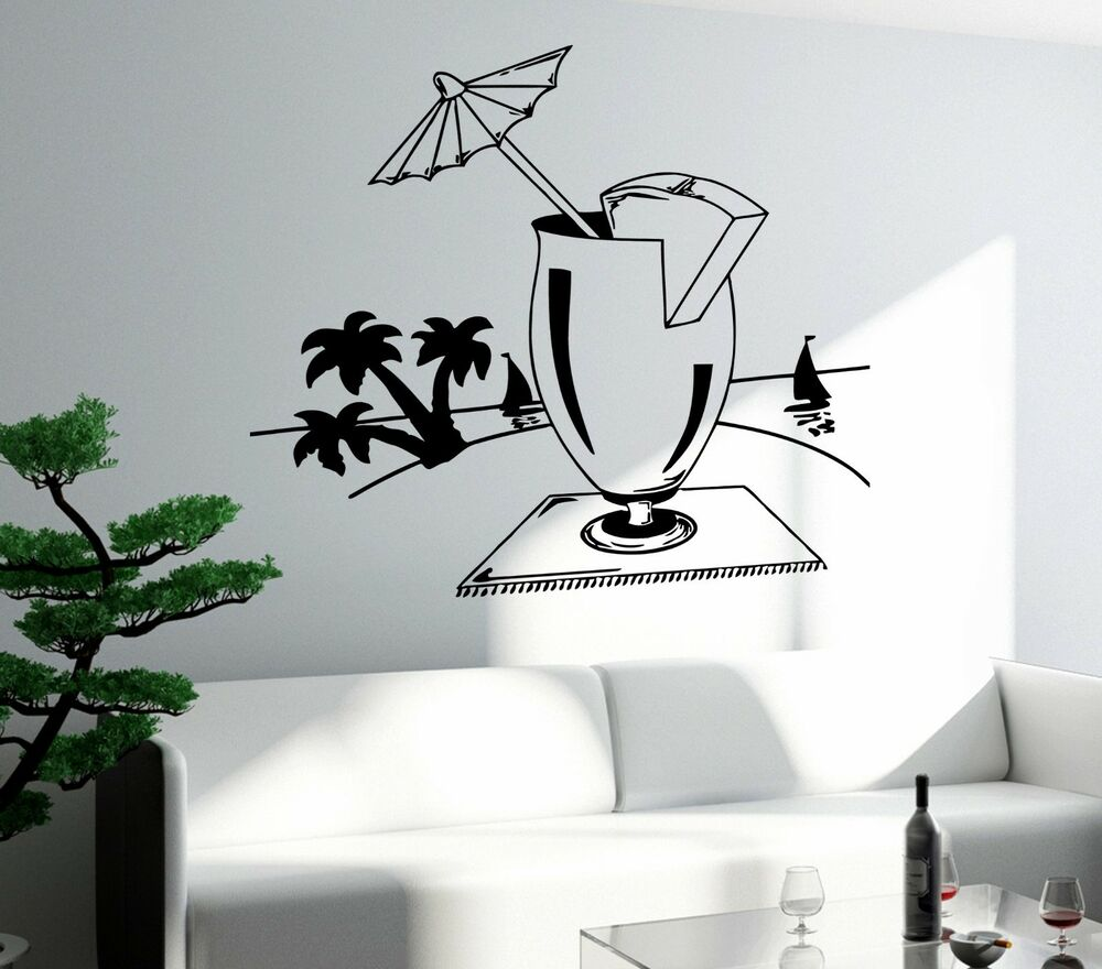 Wall Decal Bar Drink Alcohol Cool Funny Decor For Living
