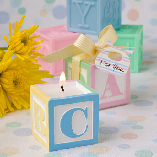 Adorable ABC Baby Block Design Scented Candle Baby Shower