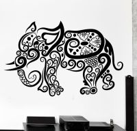 Wall Decal Elephant Africa Animal Ornament Tribal Mural ...