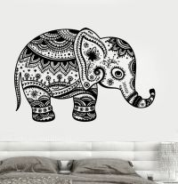 Simple Tribal Elephant Drawing
