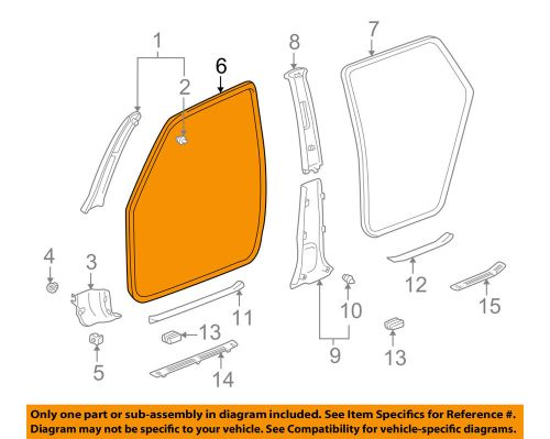 small resolution of details about pontiac gm oem 03 08 vibe interior front door trim left 88973249