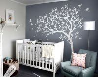 Large White Tree Wall Decal Wall Mural Stickers for ...