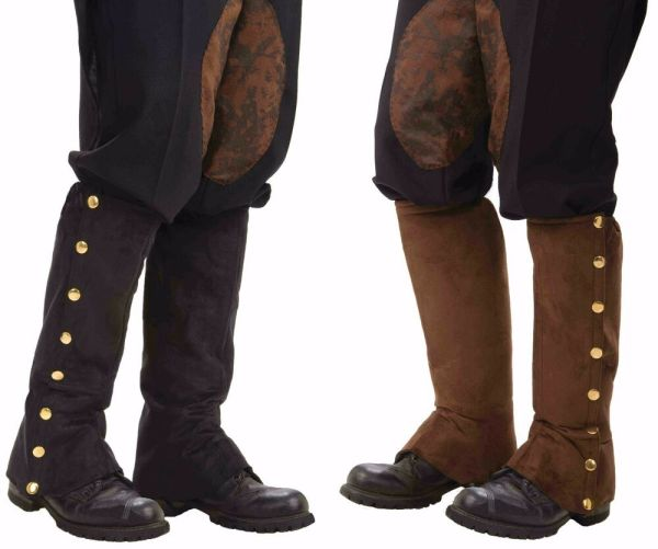 Steampunk Gold Brass Studded Boot Covers Spats Shoe Cover