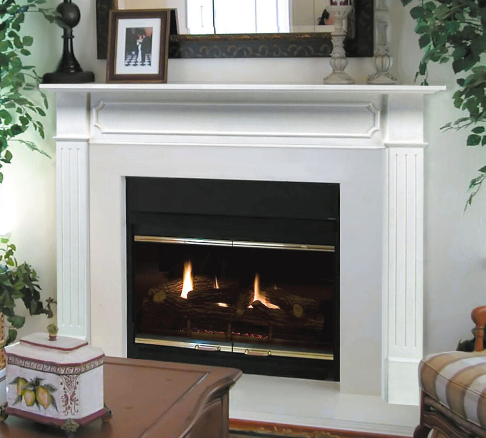 Pearl Mantel classic 48 Berkley white traditional fireplace mantel 52048  eBay