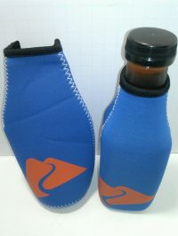 NEOPRENE INSULATED SLEEVE WATER BOTTLE HOLDER, BLUE