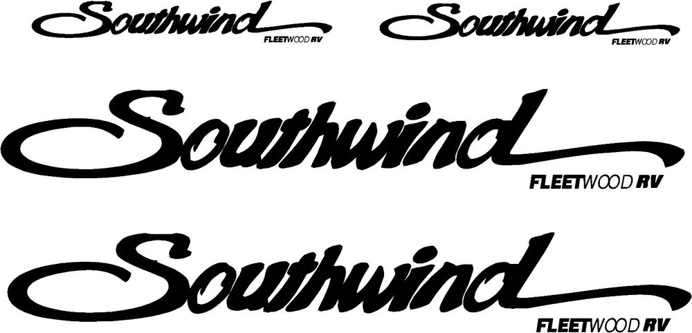 Fleetwood Southwind 4 pc Camper RV Vinyl Decal Sticker