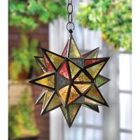 Moravian indoor Outdoor oversize STAR hanging pendant lamp