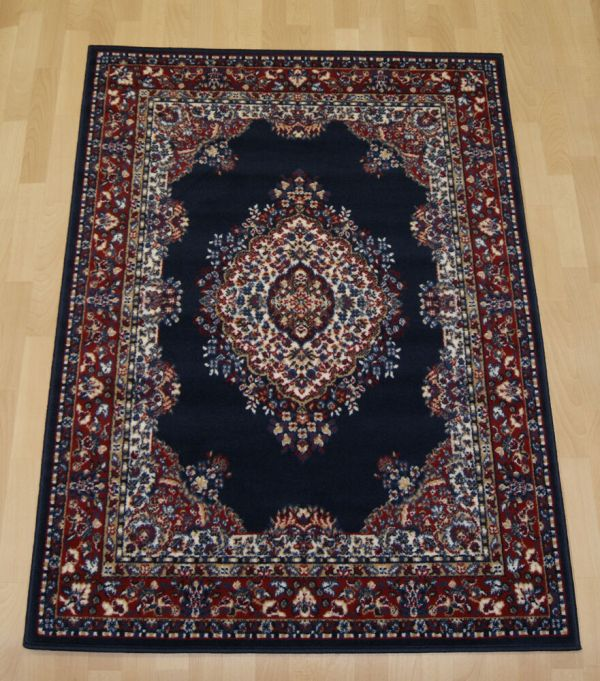 Cheap Navy Blue Traditional Rugs