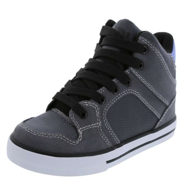Boys Airwalk High Top Skater Shoes Sneakers Gray Black Size 4