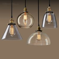New Loft Retro industrial Glass Edison pendant lights With