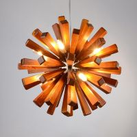 New Modern Wooden Flower Ceiling Chandelier Pendant Lamp