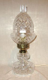 Waterford Crystal Electric Hurricane Table Lamp   eBay