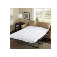 Sleeper Sofa Bed Pad Full Size White Pull Out Mattress ...