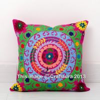 SUZANI EMBROIDERED PILLOW CUSHION COVER Colorful ...