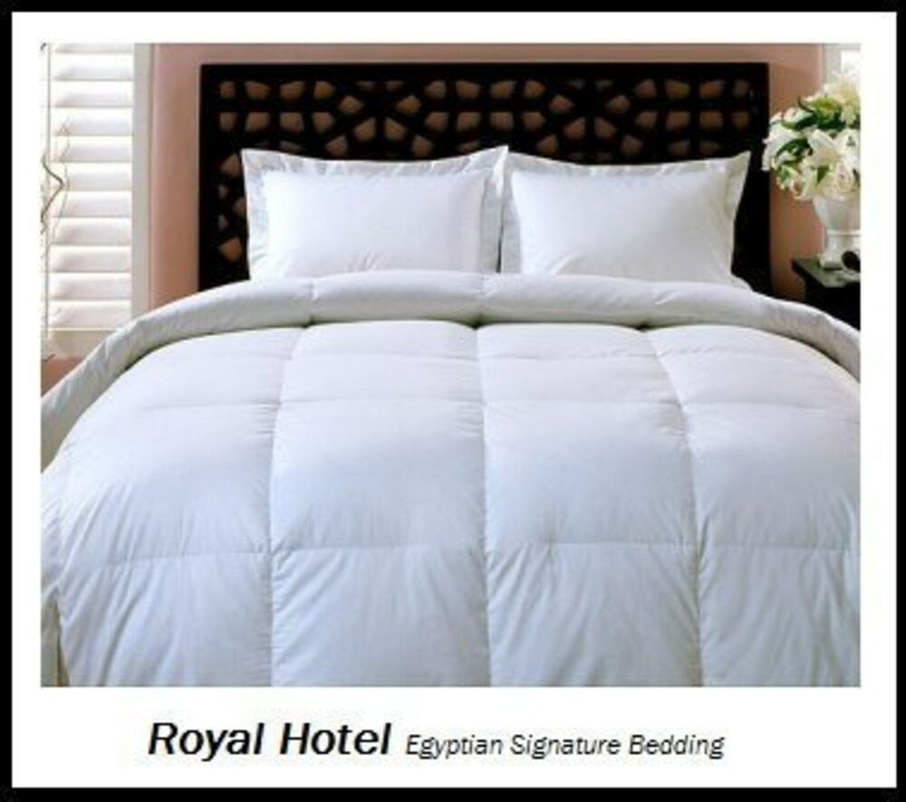 Full Queen Size Down Comforter Duvet Insert Bedding Bed LUXURY Goose Down White 825624643231  eBay