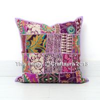 "24X24"" Extra Large Pillow Cover Vintage Embroidered Decor ..."
