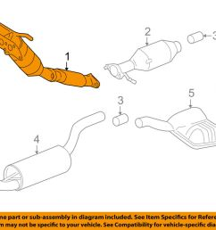 details about ford oem 2004 focus 2 3l l4 exhaust system exhaust pipe 3s4z5g203ba [ 1000 x 798 Pixel ]