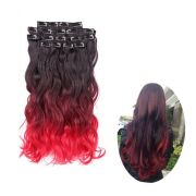 """8pcs clip in red ombre 20"""" hair"""