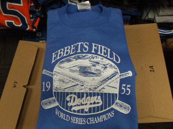 Ebbets Field Brooklyn Dodgers 1955 World Series Crew Neck