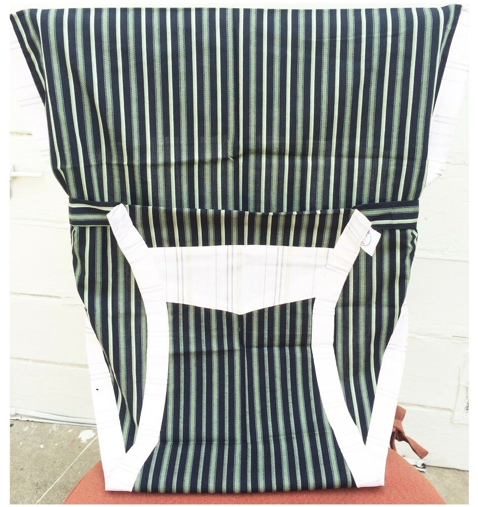 Blue And White Striped Chair New Portable Baby Chair High Chair Harness Blue White Stripes Ebay