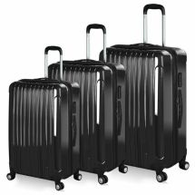cedd79842 Hard Shell Suitcase 4 Wheel Luggage Trolley Cabin Carry