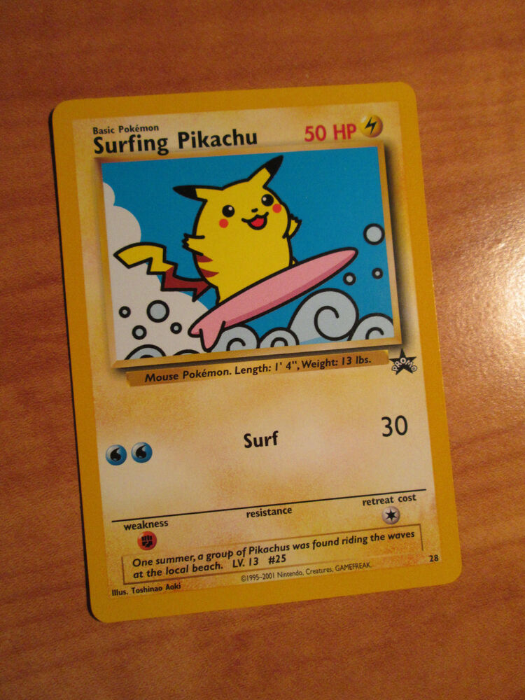 You will need the following: NM Pokemon SURFING PIKACHU Card BLACK STAR PROMO Set #28 Wizards of the Coast | eBay