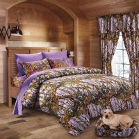 7 PC LAVENDER CAMO COMFORTER AND SHEET SET FULL CAMOUFLAGE ...