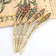 colorful womens retro crystal hollow
