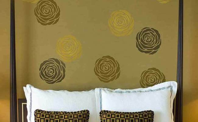 Rose Floral Wall Art Stencil Extra Small Floral Diy