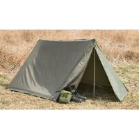 Military Shelter Half One (1) Lean to Pup Tent for Compact ...