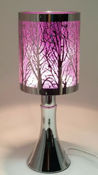 Fragrance ** Stainless Steel Table Touch Lamp Tree (Purple ...