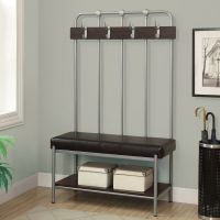 Storage Bench Seat Rack Hall Tree Coat Stand Furniture ...