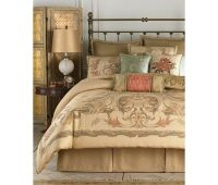 CROSCILL NORMADY QUEEN COMFORTER SET REVERSIBLE BEDDING ...