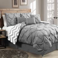 New Reversible 7-Piece Comforter Set King Size Bed Bedding ...
