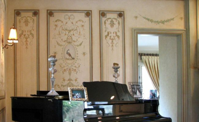 Versailles Side Panel Wall Stencil Large Detailed