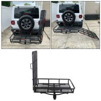 "60"" Folding Truck Car Cargo Carrier Basket Luggage Rack ..."