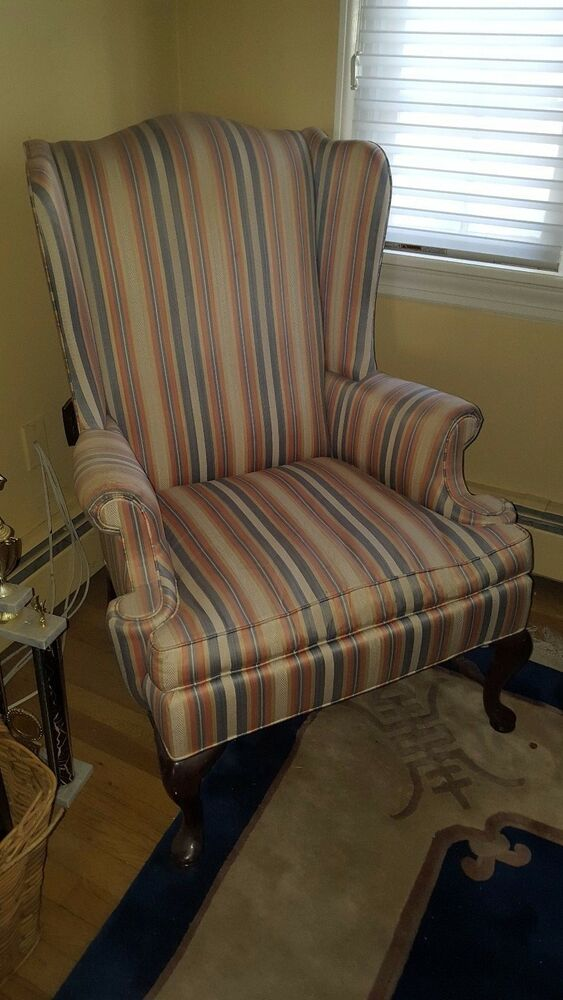 Hickory Chair Company Queen Anne Wing Back Chair  eBay