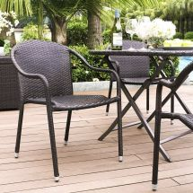 Crosley Palm Harbor Outdoor Wicker Stackable Chairs Set Of